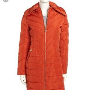 Michael Michael Kors Long zip puffer coat